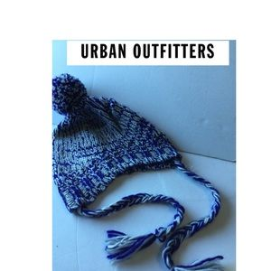 NWOT Urban Outfitters beanie with strings one size